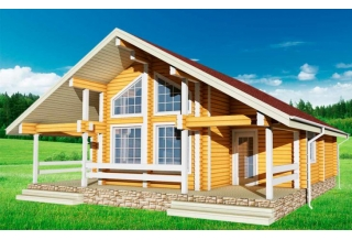 Проект 8-129-б: Дом из бруса 10×10
